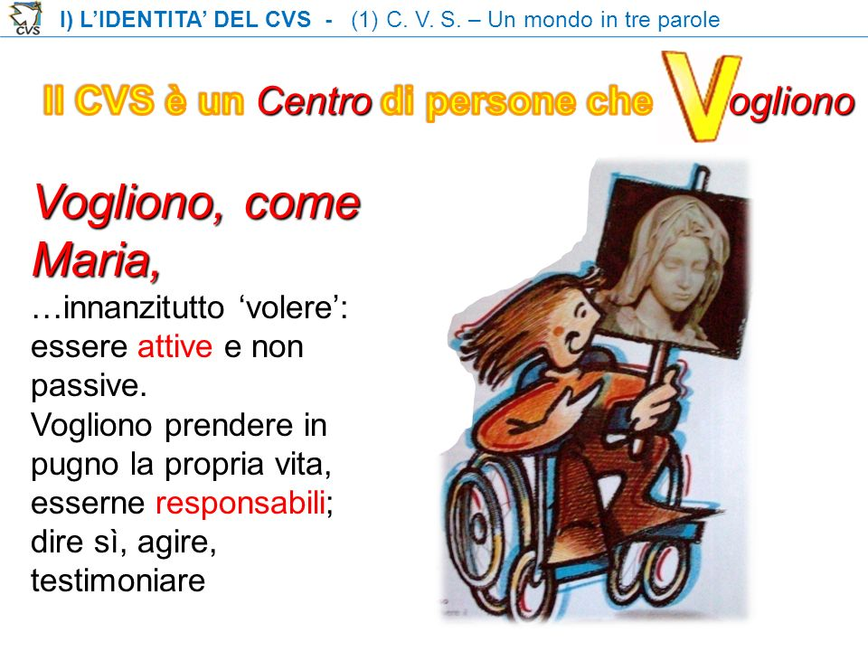 I) LIDENTITA DEL CVS - (1) C.V. S.