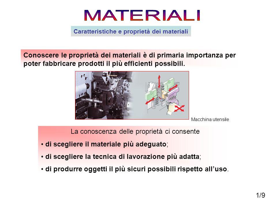 Conoscere le proprietà dei materiali è di primaria importanza per poter fabbricare prodotti il più efficienti possibili. La conoscenza delle proprietà