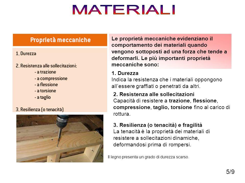 Le proprietà meccaniche evidenziano il comportamento dei materiali quando vengono sottoposti ad una forza che tende a deformarli. Le più importanti pr