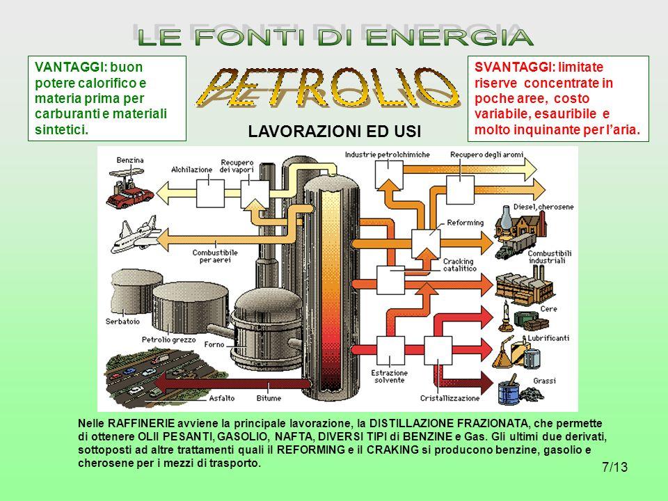 8/13 Il METANO, CH 4, è il più semplice degli idrocarburi.