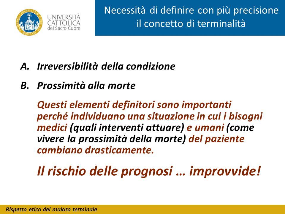 Rispetto etica del malato terminale Una carta dei diritti del malato cronico in evoluzione di malattia Associazione Romanini - Istituto di Bioetica, UCSC (2001)