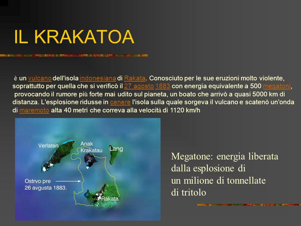 IL KRAKATOA è un vulcano dell'isola indonesiana di Rakata. Conosciuto per le sue eruzioni molto violente, vulcano indonesiana Rakata soprattutto per q