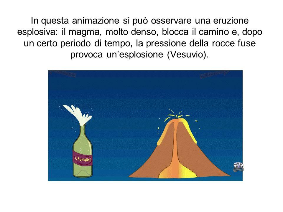 Se il magma è più fluido, non ostruisce il camino vulcanico per cui le eruzioni sono più frequenti ma meno pericolose (Etna).
