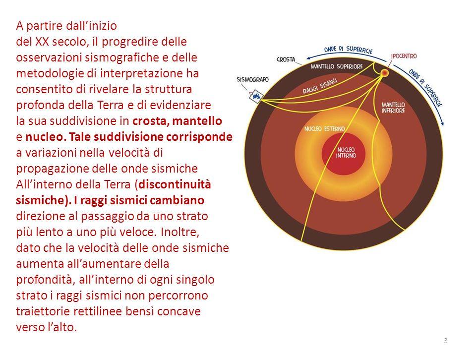 A partire dallinizio del XX secolo, il progredire delle osservazioni sismografiche e delle metodologie di interpretazione ha consentito di rivelare la