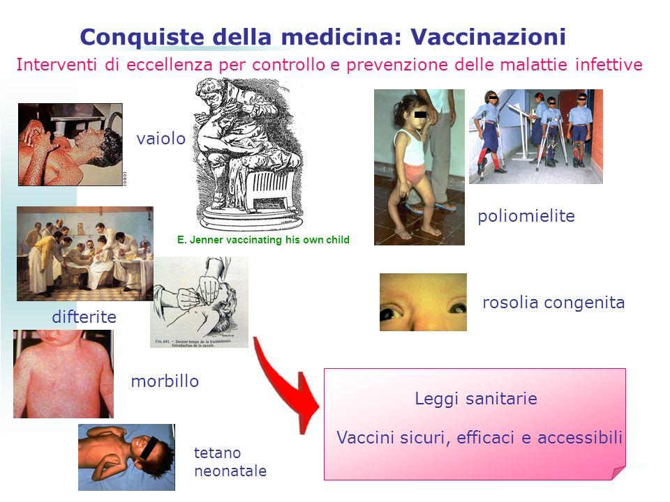 Interventi di eccellenza per controllo e prevenzione delle malattie infettive vaiolo difterite morbillo tetano neonatale rosolia congenita poliomielit