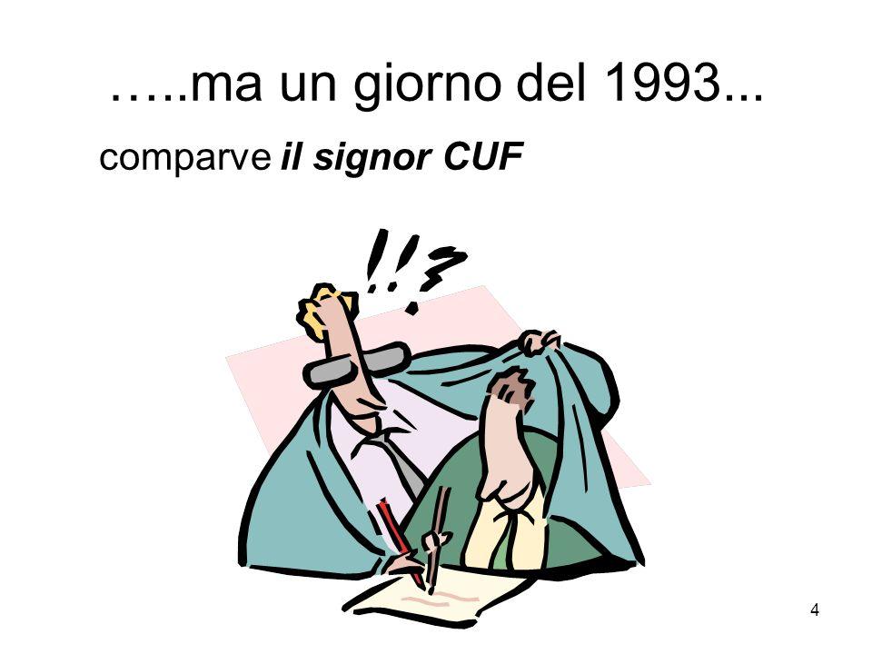 4 …..ma un giorno del 1993... comparve il signor CUF