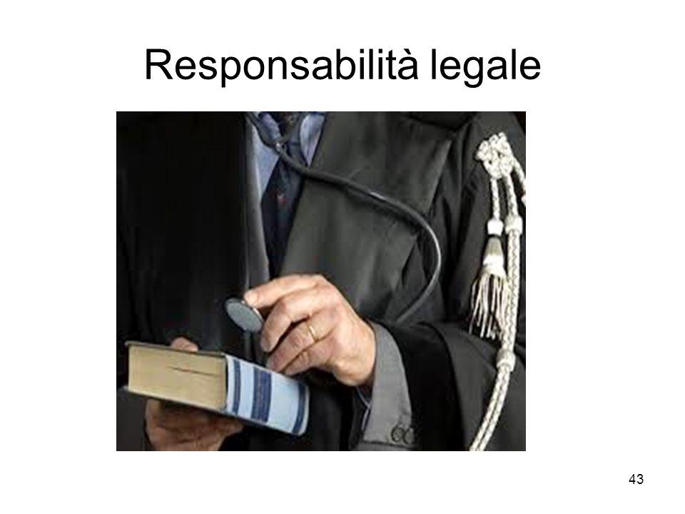 43 Responsabilità legale.