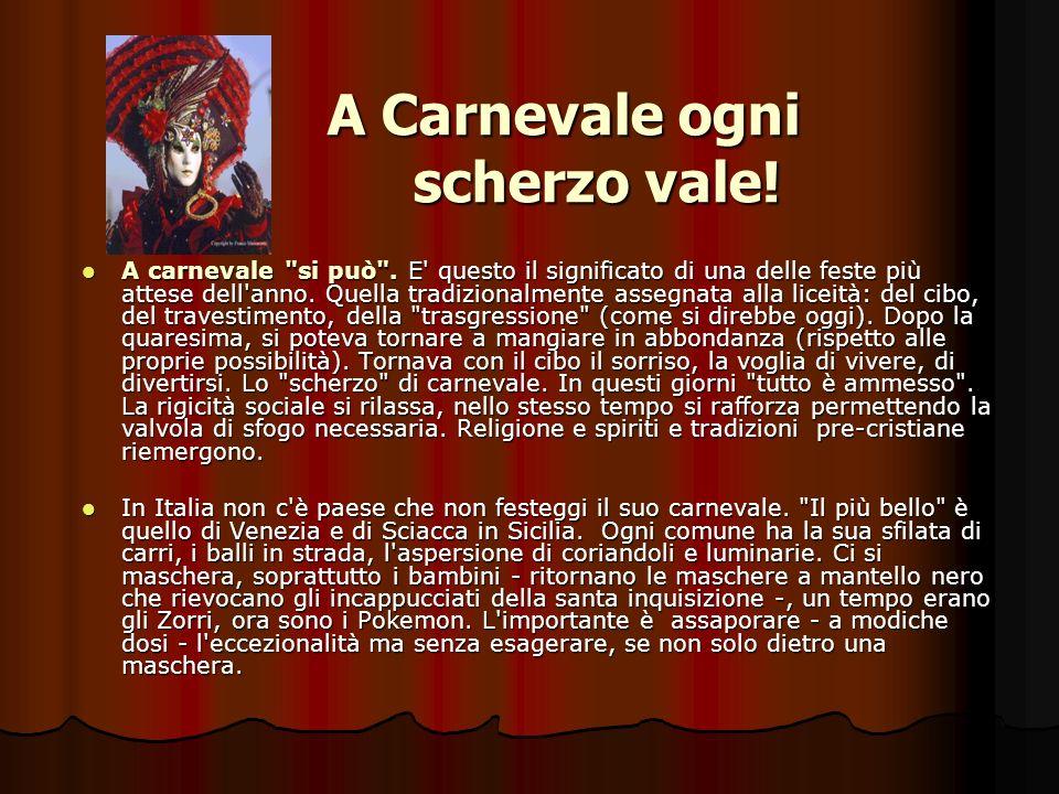 Conosci le origini della parola Carnevale.Qualè il significato della festa.