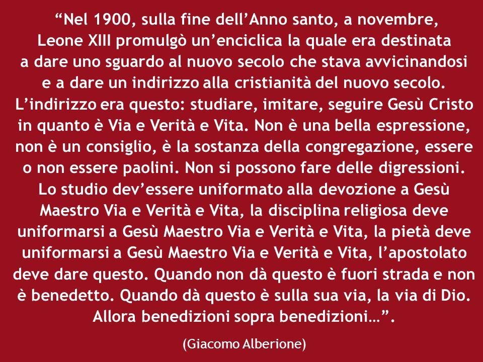 Nel 1900, sulla fine dellAnno santo, a novembre, Leone XIII promulgò unenciclica la quale era destinata a dare uno sguardo al nuovo secolo che stava a