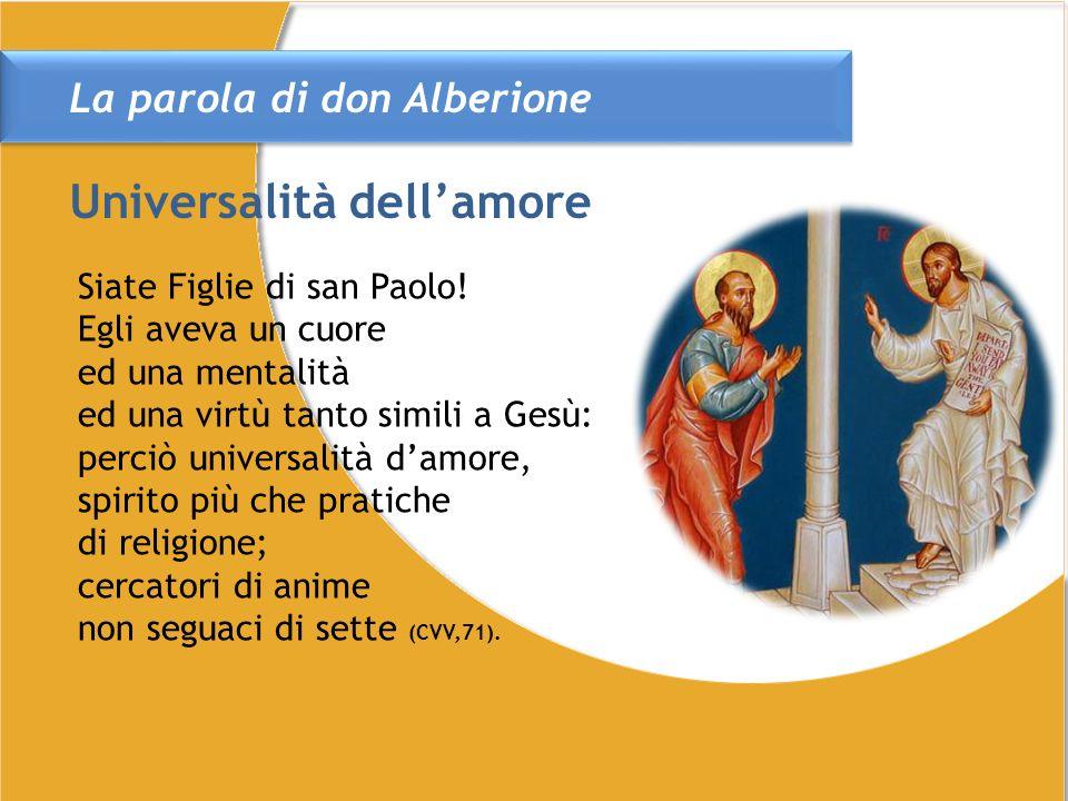 La parola di don Alberione Siate Figlie di san Paolo.