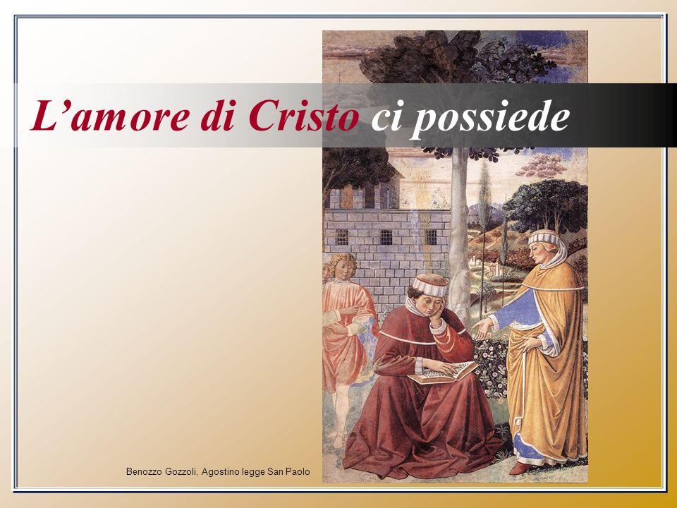 Benozzo Gozzoli, Agostino legge San Paolo Lamore di Cristo ci possiede