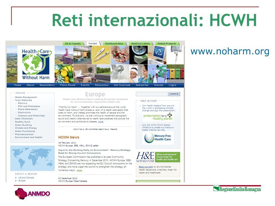 Reti internazionali: HCWH www.noharm.org