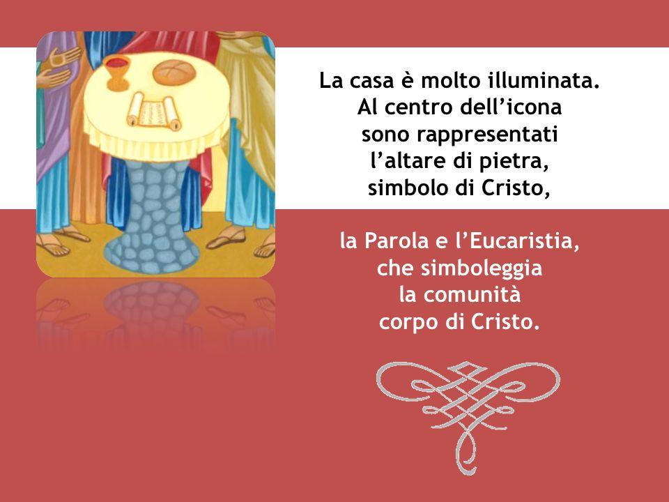 Paolo è con Tito che lo aiuta a ristabilire larmonia a Corinto. Gli stessi colori usati nellicona denotano pace e armonia. Aquila, Priscilla e Sostene