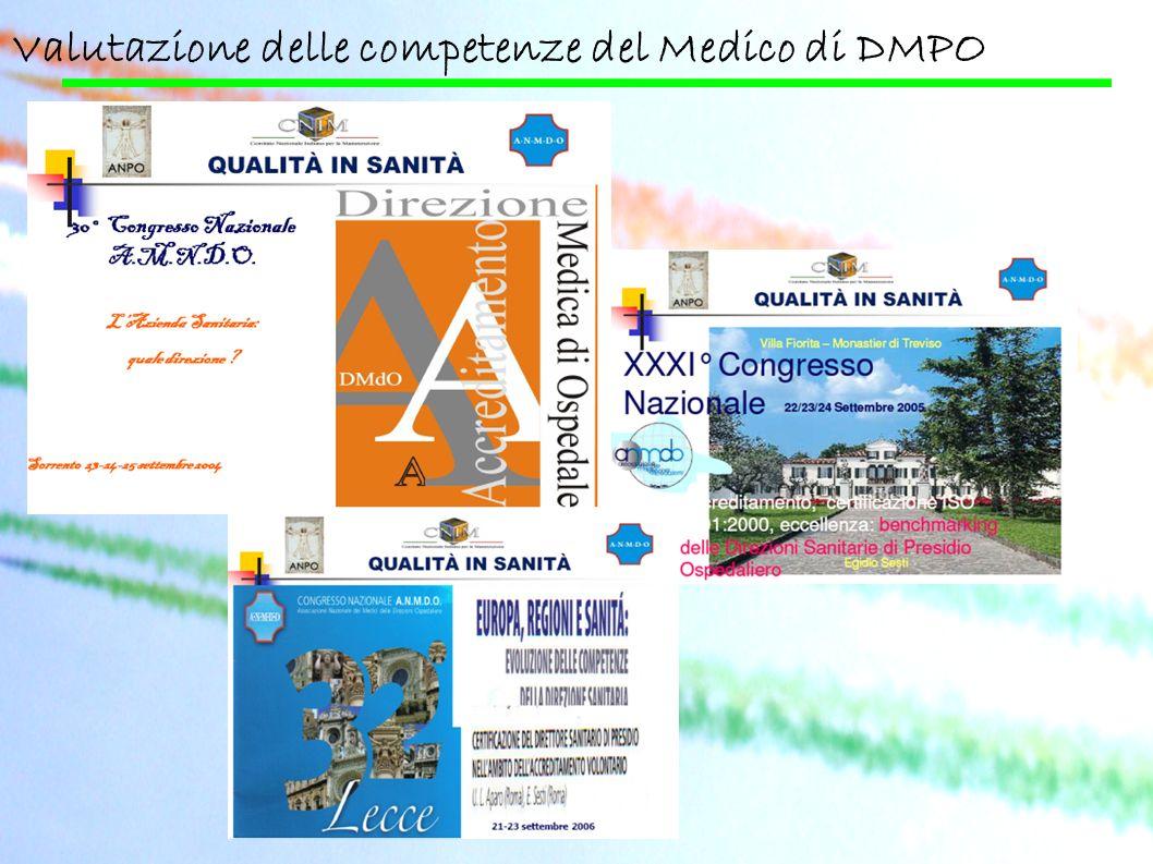 Valutazione delle competenze del Medico di DMPO