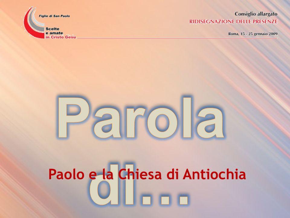 Paolo e la Chiesa di Antiochia