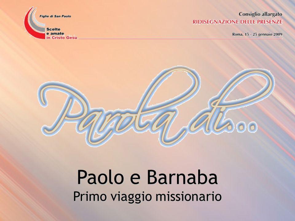 Paolo e Barnaba Primo viaggio missionario