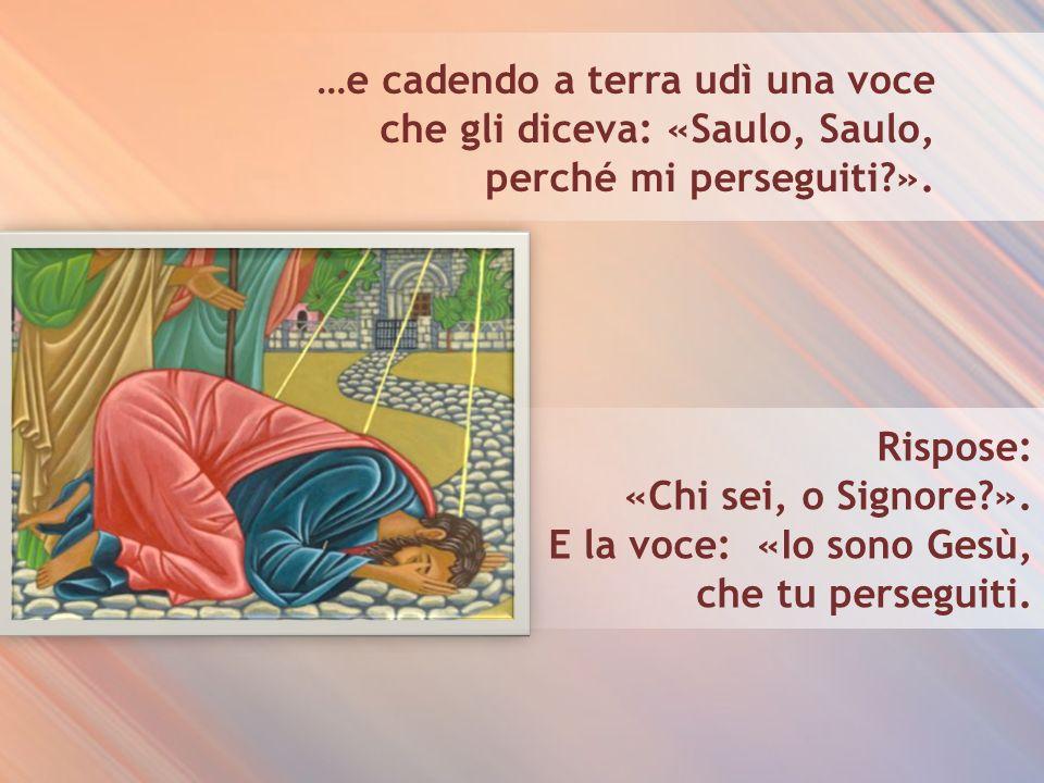 …e cadendo a terra udì una voce che gli diceva: «Saulo, Saulo, perché mi perseguiti?».