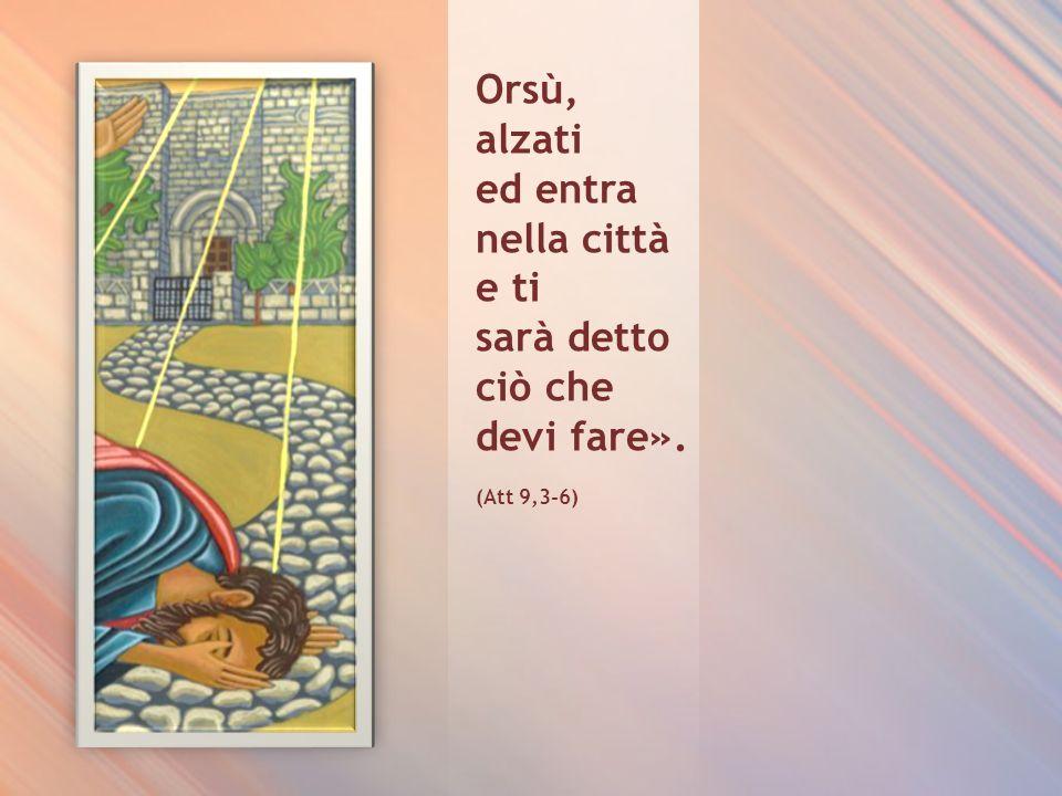 …e cadendo a terra udì una voce che gli diceva: «Saulo, Saulo, perché mi perseguiti?». Rispose: «Chi sei, o Signore?». E la voce: «Io sono Gesù, che t