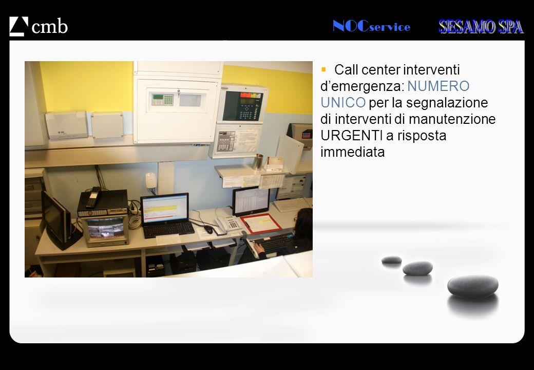 NOC service Call center interventi demergenza: NUMERO UNICO per la segnalazione di interventi di manutenzione URGENTI a risposta immediata