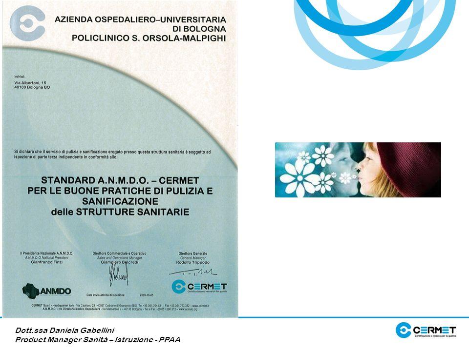 Dott.ssa Daniela Gabellini Product Manager Sanità – Istruzione - PPAA
