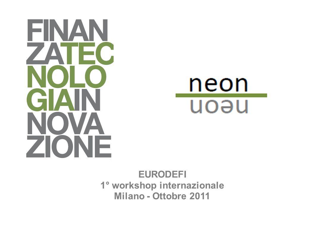 EURODEFI 1° workshop internazionale Milano - Ottobre 2011