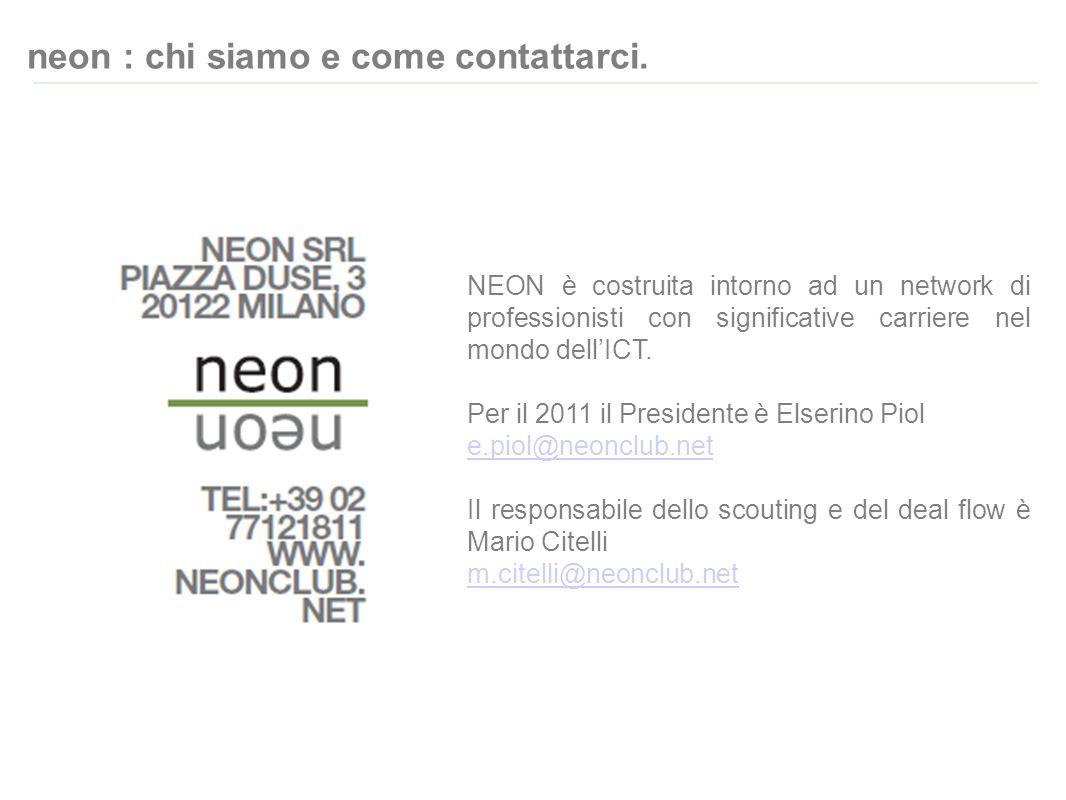 neon : chi siamo e come contattarci.