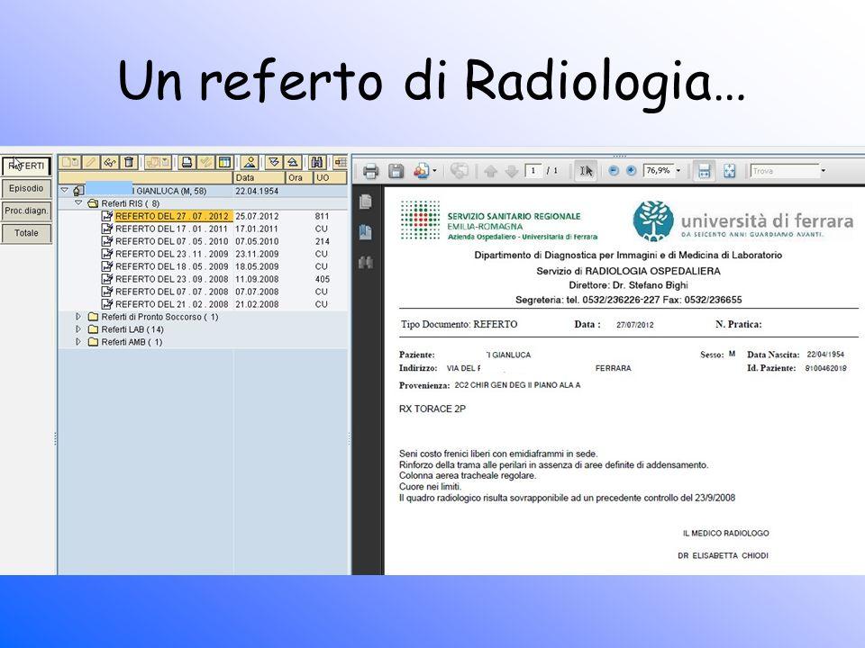 Un referto di Radiologia…
