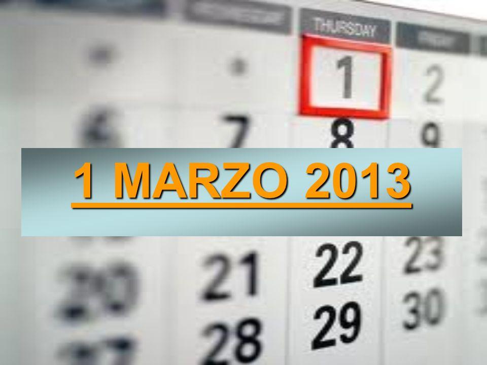 1 MARZO 2013