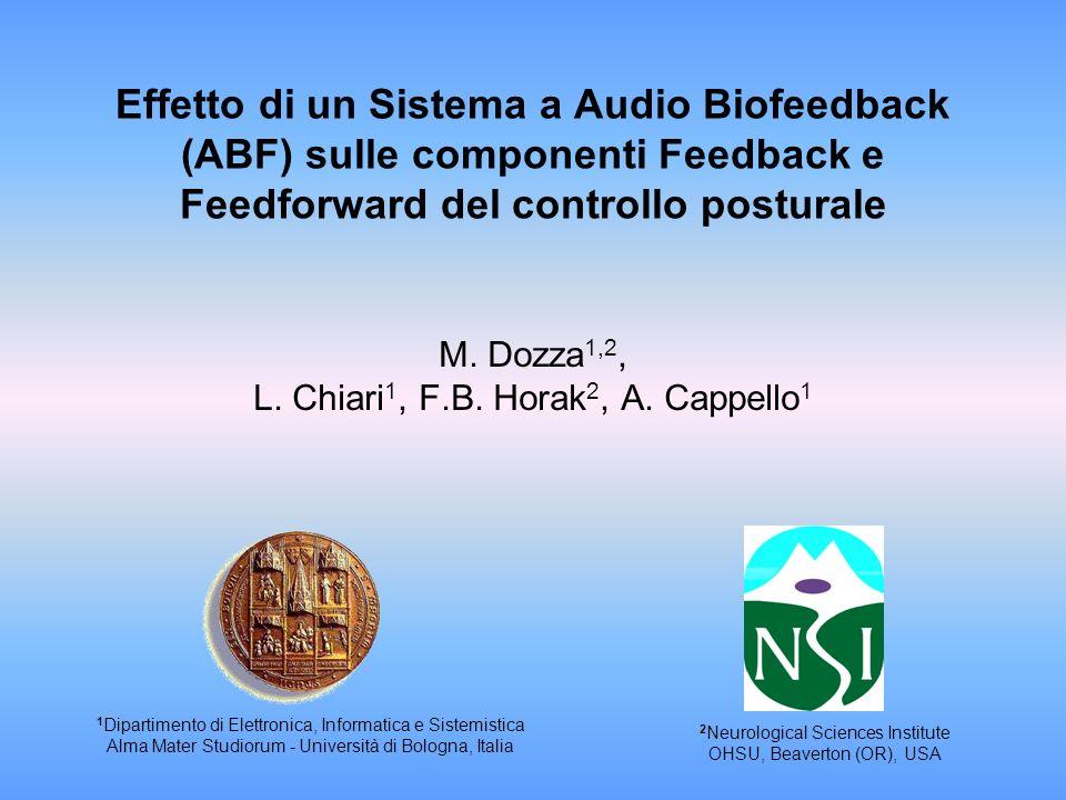 Effetto di un Sistema a Audio Biofeedback (ABF) sulle componenti Feedback e Feedforward del controllo posturale M. Dozza 1,2, L. Chiari 1, F.B. Horak