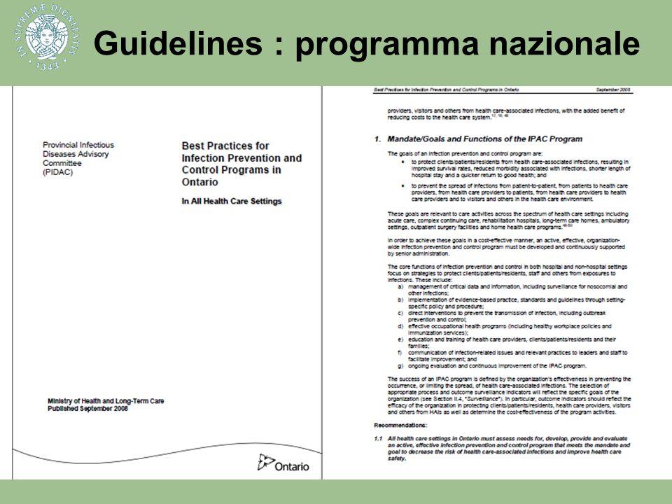 Guidelines : programma nazionale
