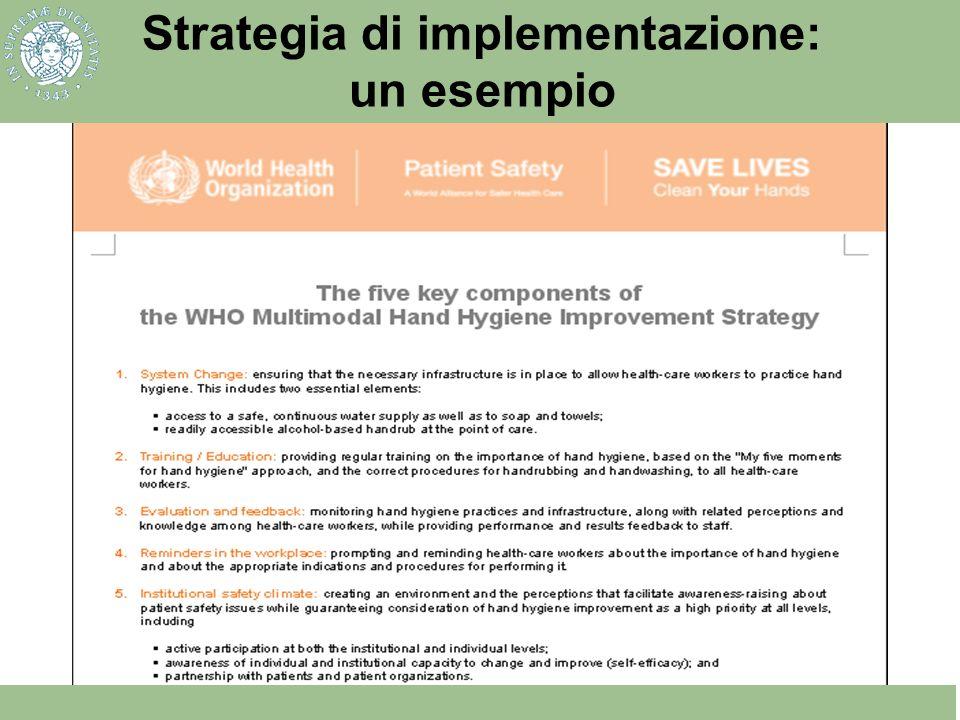 Strategia di implementazione: un esempio