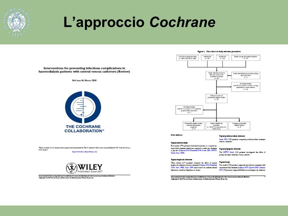 Lapproccio Cochrane