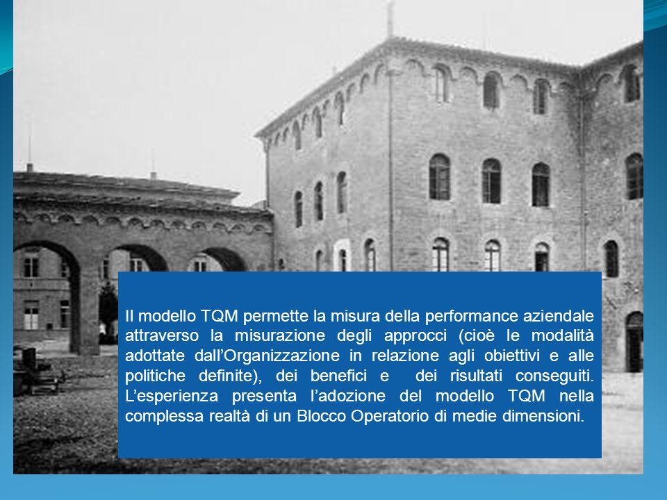 Il modello TQM permette la misura della performance aziendale attraverso la misurazione degli approcci (cioè le modalità adottate dallOrganizzazione i