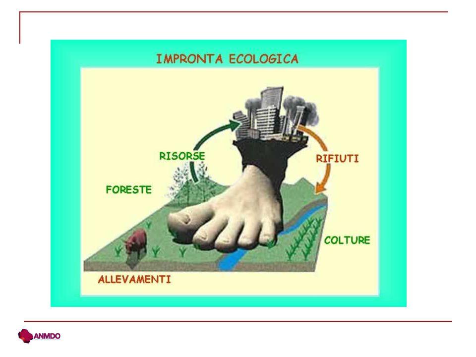 Limpronta ecologica è differente a seconda dello stile di vita e del territorio in cui viviamo