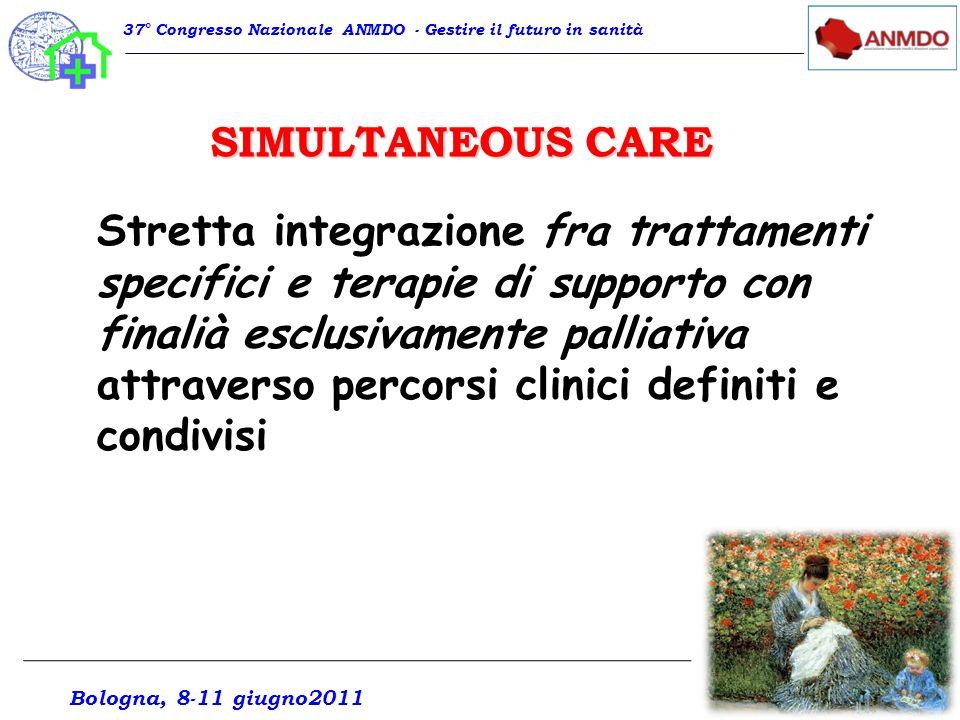 37° Congresso Nazionale ANMDO - Gestire il futuro in sanità Stretta integrazione fra trattamenti specifici e terapie di supporto con finalià esclusiva