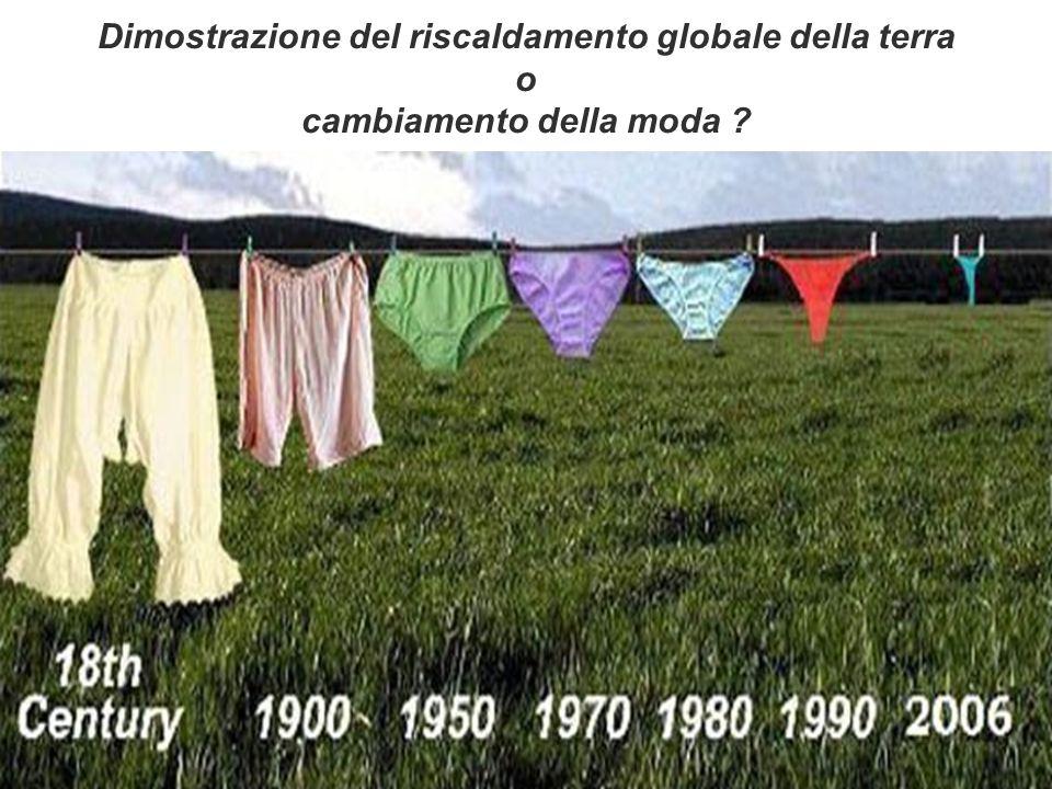 3 Dimostrazione del riscaldamento globale della terra o cambiamento della moda