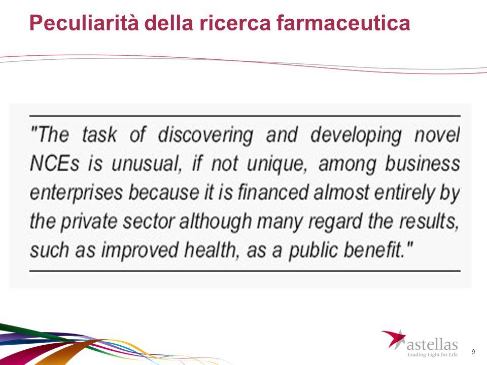 9 Peculiarità della ricerca farmaceutica
