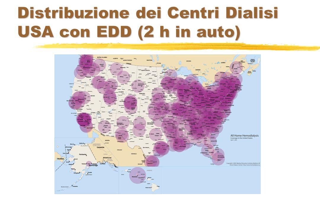Distribuzione dei Centri Dialisi USA con EDD (2 h in auto)