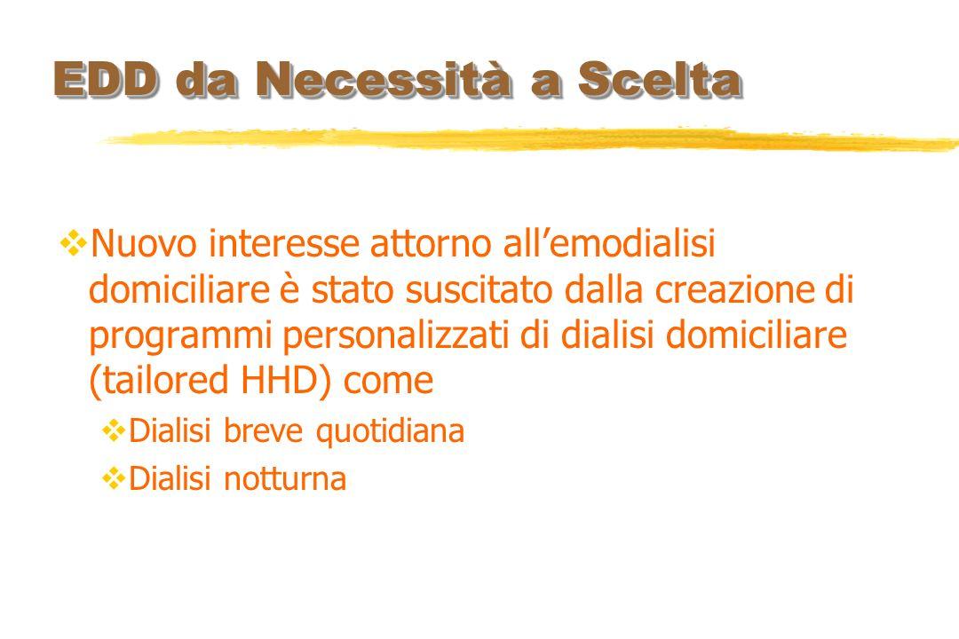 Nuovo interesse attorno allemodialisi domiciliare è stato suscitato dalla creazione di programmi personalizzati di dialisi domiciliare (tailored HHD)