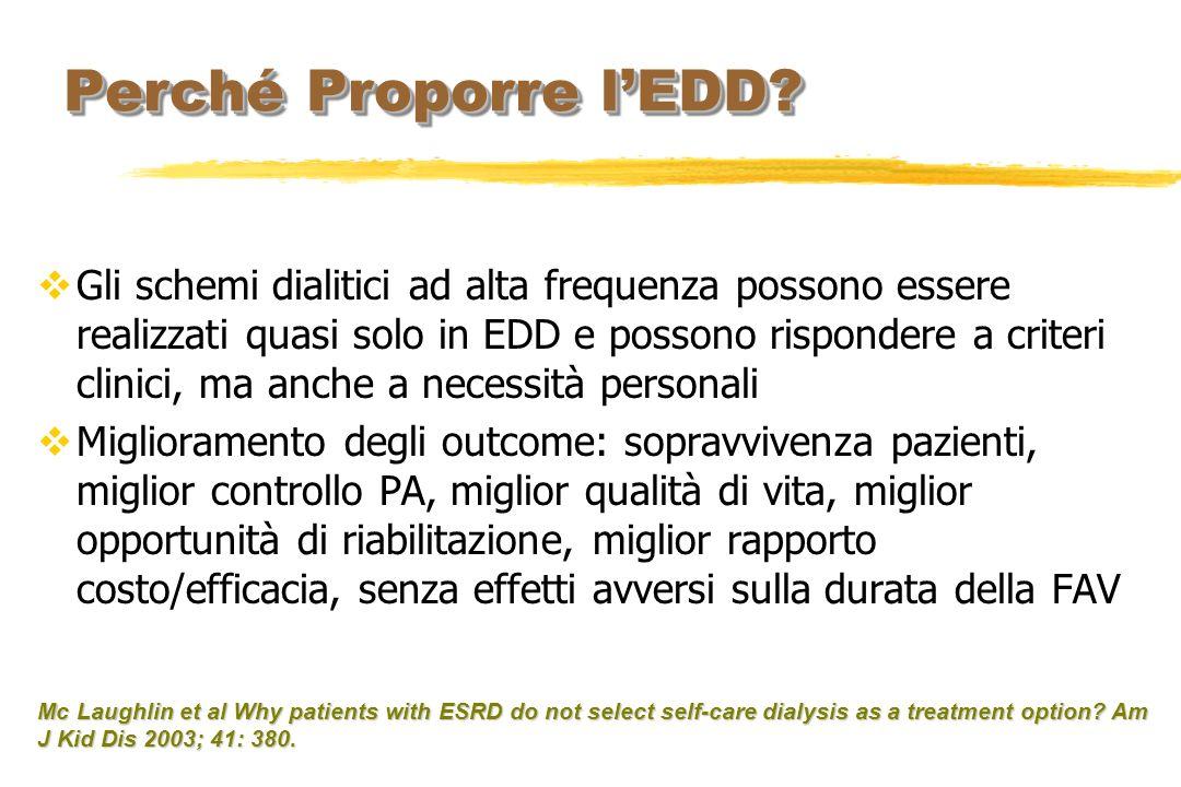 Gli schemi dialitici ad alta frequenza possono essere realizzati quasi solo in EDD e possono rispondere a criteri clinici, ma anche a necessità person