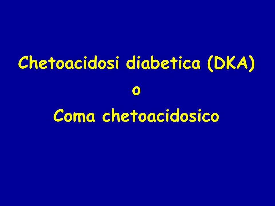 Chetoacidosi diabetica (DKA) o Coma chetoacidosico