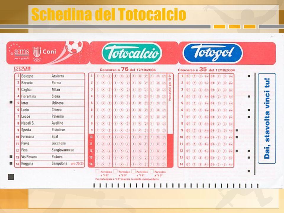 Schedina del Totocalcio