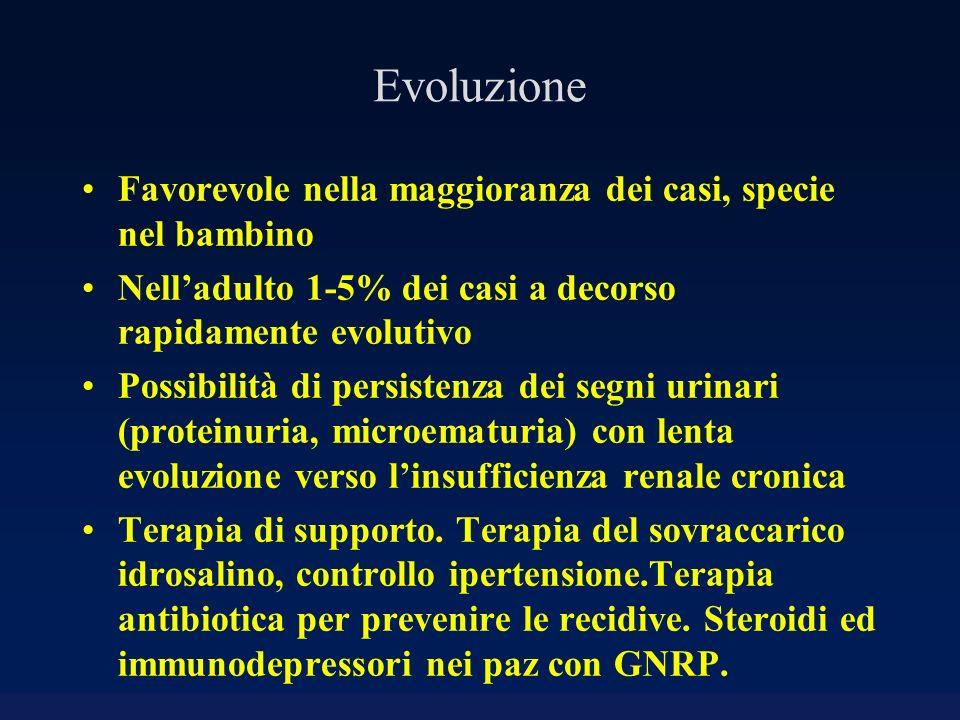 Evoluzione Favorevole nella maggioranza dei casi, specie nel bambino Nelladulto 1-5% dei casi a decorso rapidamente evolutivo Possibilità di persisten