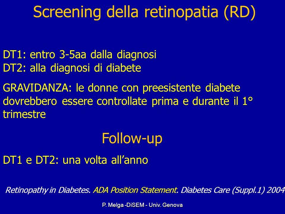 P. Melga -DiSEM - Univ. Genova Fattori di rischio - Pubertà - Gravidanza - Mancanza di controlli oftalmoscopici periodici