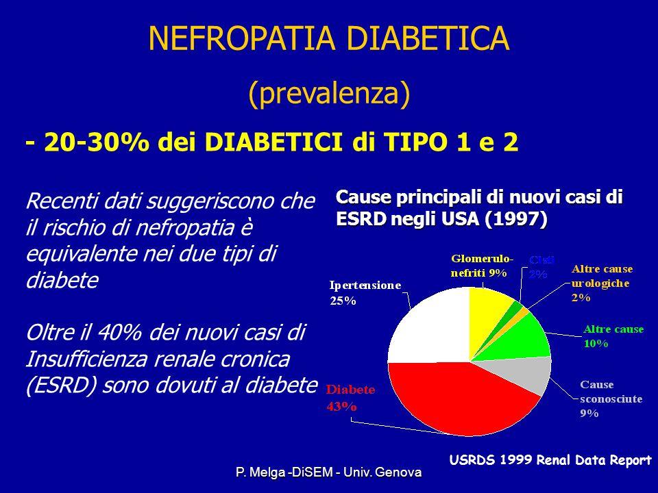 P. Melga -DiSEM - Univ. Genova NEFROPATIA DIABETICA