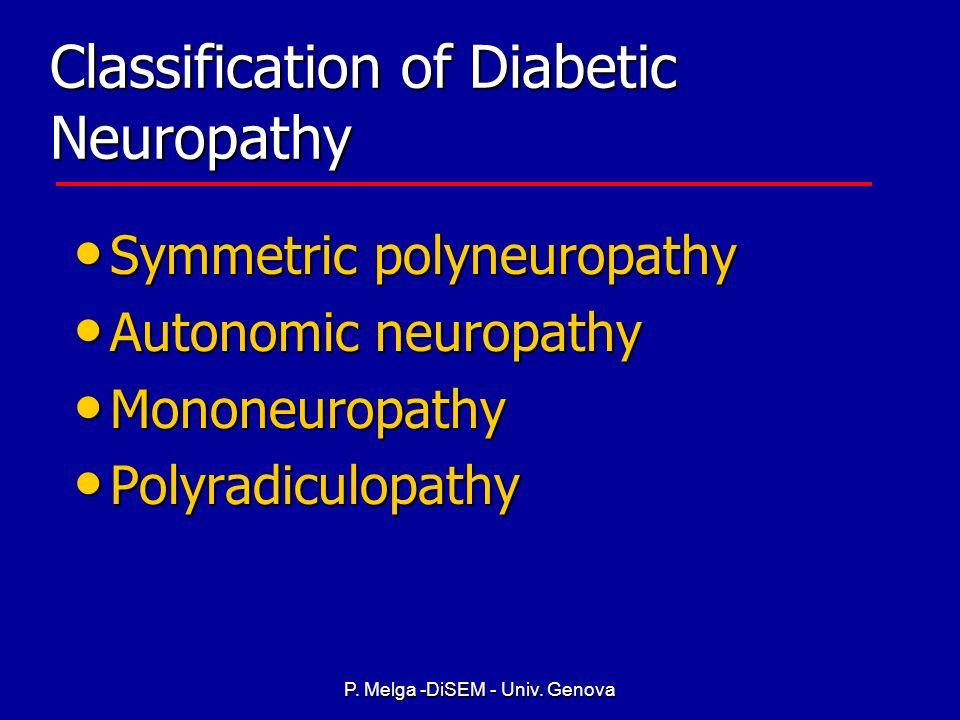 P. Melga -DiSEM - Univ. Genova Risk Factors Glucose control Glucose control Duration of diabetes Duration of diabetes Damage to blood vessels Damage t