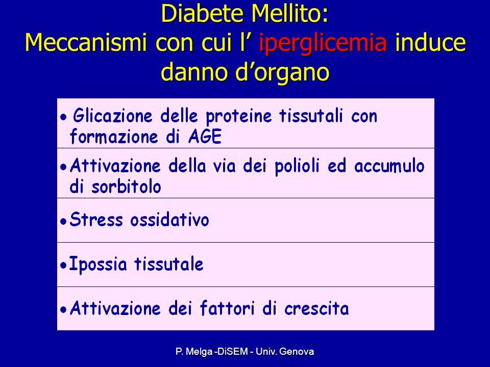 P. Melga -DiSEM - Univ. Genova Complicanze croniche Storia naturale Suscettibilità individuale fattori genetici, etnici Suscettibilità individuale fat