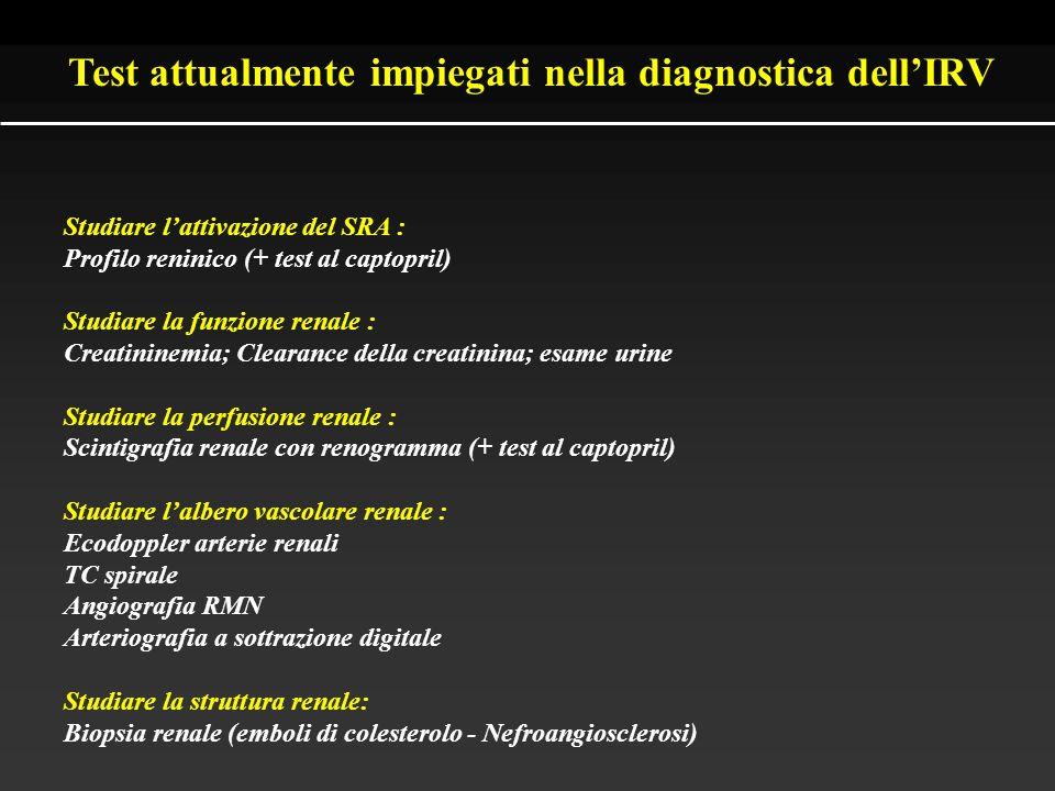 Strategie terapeutiche Angioplastica ± posizionamento di stent di Palmaz Rivascolarizzazione chirurgica Terapia medica