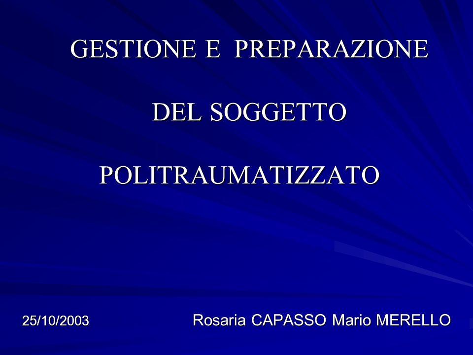 TRAUMI DELLA COLONNA PREVALENZA TRATTO DORSALE 40-45% TENDENZA ALLAUMENTO NEL CORSO DEGLI ULTIMI ANNI DEI TRAUMI A CARICO DEL SEGMENTO CERVICALE 25/10/2003 Rosaria CAPASSO Mario MERELLO -10- -10-