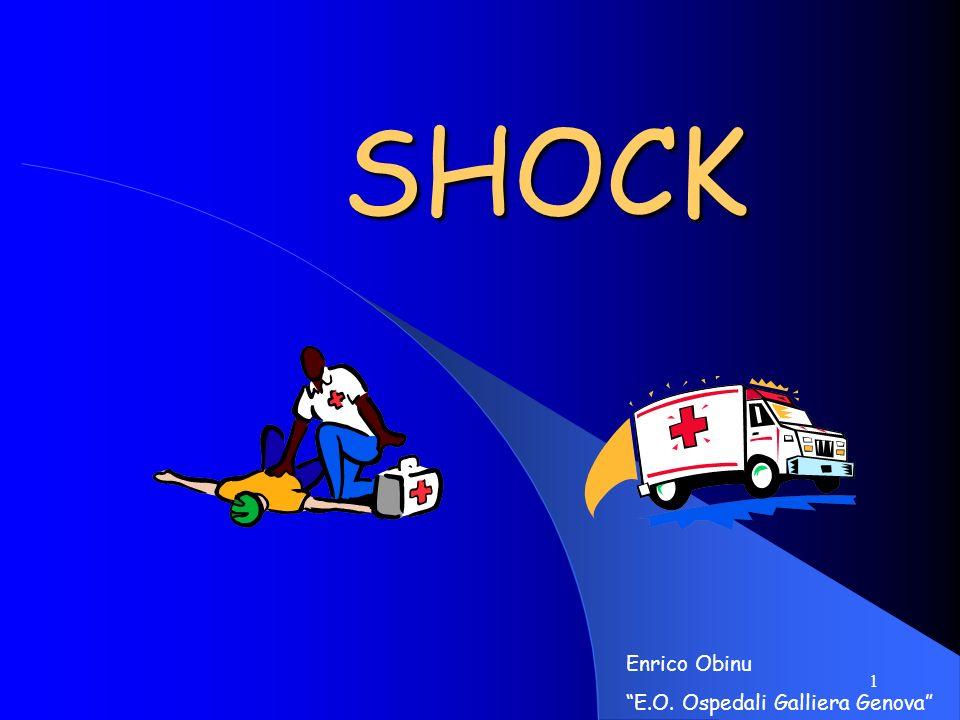 21 SHOCK DA VASODILATAZIONE (Ipovolemia relativa) SHOCK SPINALE (Shock neurogeno)